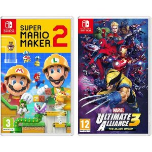 Super Mario Maker 2 and Marvel Ultimate Alliance 3: The