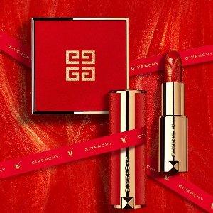 限时7折 €16.7收丝绒红管#N37Givenchy 纪梵希彩妆热促 收新年限定琉金唇膏、四格散粉