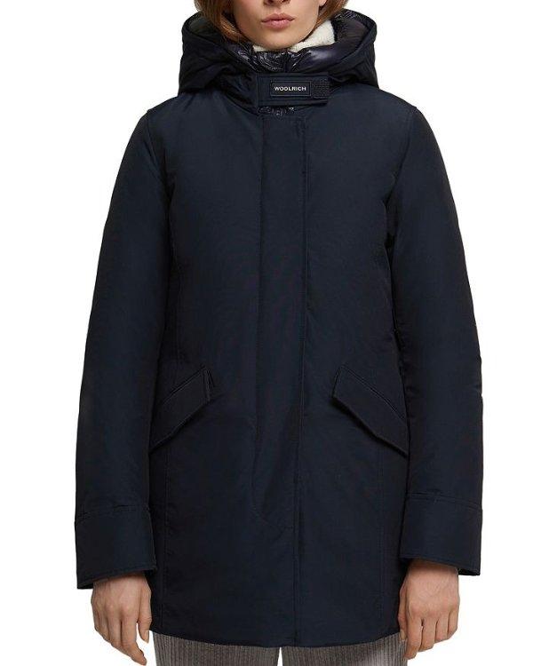 防风羽绒外套
