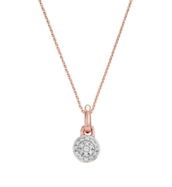 Fiji Mini 纽扣钻石吊坠