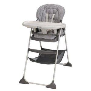$49(原价$59.99)+包邮Graco Slim Snacker 可折叠儿童高脚餐椅