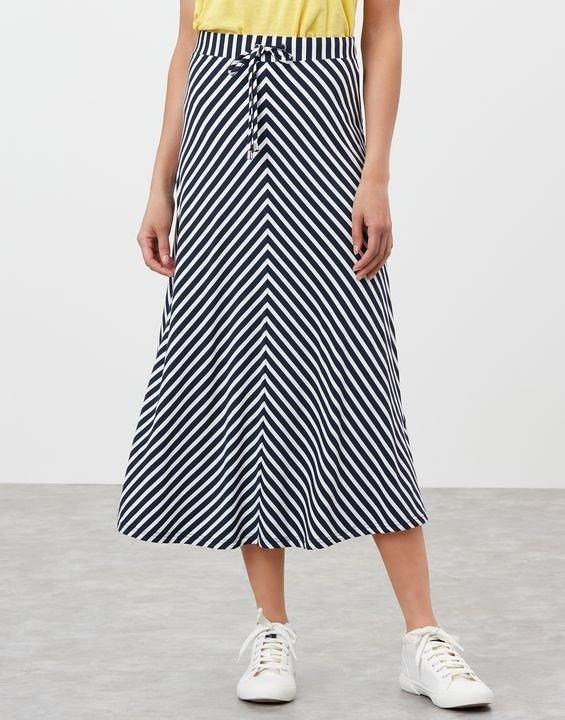 条纹半身裙
