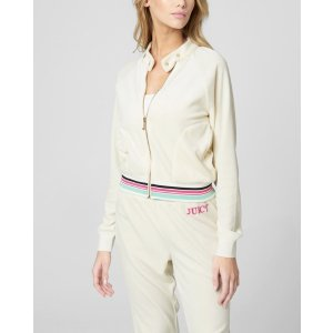 Juicy CoutureEMBROIDERED JUICY LOGO VELOUR JACKET