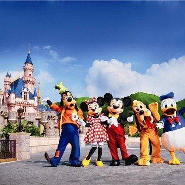 <4天>洛杉矶轻松欢乐游:童话世界迪士尼乐园/冒险乐园、好莱坞环球影城、圣地亚哥海洋世界、太平洋水族馆等十大主题项目任选三