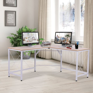 6.5折起+额外9折HOMCOM L型电脑桌、办公桌 坚固耐用  两色可选