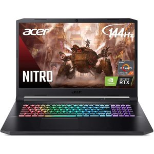 $1407.33 自营Acer Nitro 5 AN517 144Hz 游戏本 (R7 5800H, 3060, 16GB, 1TB)
