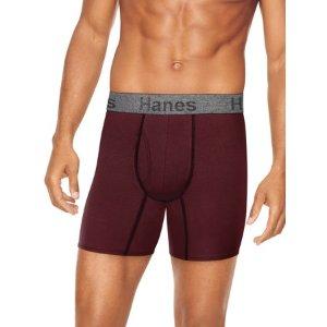 $15 (原价$25)Hanes 男士平角内裤5条装
