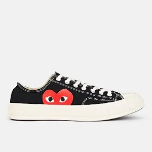 Comme des Garcons Play Chuck Taylor 1970s 桃心帆布鞋