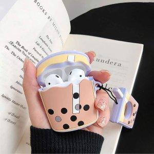 £7.99收封面同款珍珠奶茶保护套Apple Airpods 超萌保护套上新 珍珠奶茶 派大星 等你认领