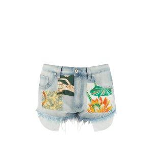 Loewe牛仔短裤