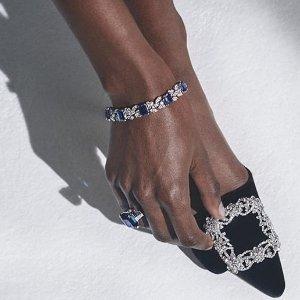 Manolo Blahnik 美鞋热卖 入手可甜可御超美钻扣高跟鞋
