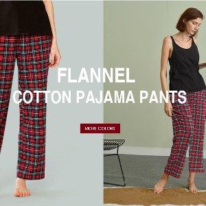 $13.99(原价$26.99)SIORO 法兰绒格纹睡裤 100%纯棉 S/L/XL尺码任选