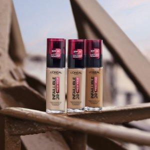 低至2折 $29收24hr持久粉底液L'Oréal 欧莱雅开架彩妆 便宜也有好货 收底妆、睫毛膏等