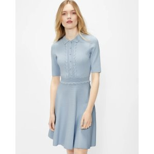 Ted Baker浅蓝色针织连衣裙