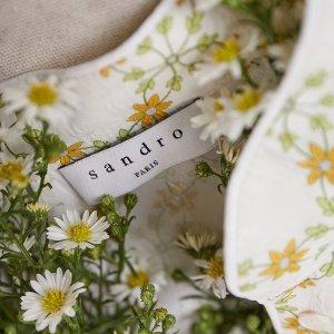 低至4.5折 蕾丝连衣裙$134Sandro 超适合亚洲人的法式美衣热促 西装$174