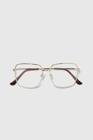 METALLIC SQUARE FRAMED GLASSES - View All-ACCESSORIES-MAN | ZARA United States
