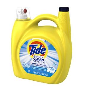 $8.52(原价$11.99)Tide Simply Clean & Fresh 洗衣液,4.08升