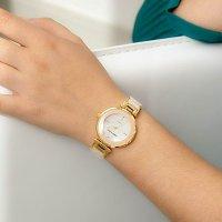 Anne Klein 粉色镶钻手表