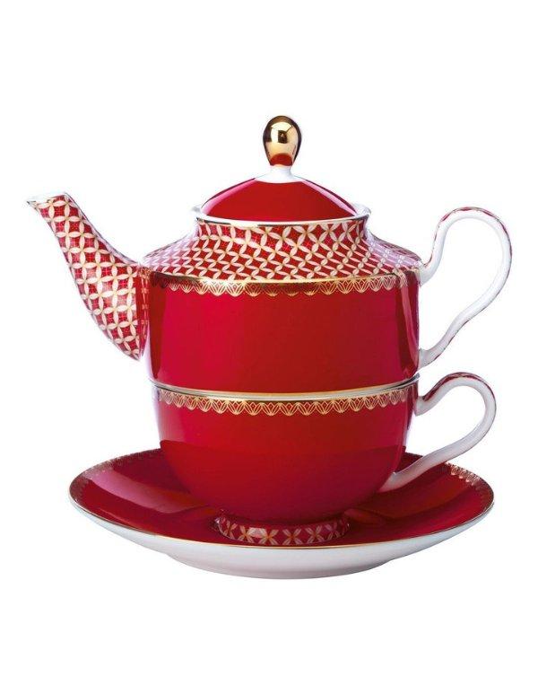 复古茶壶+托盘 380ml