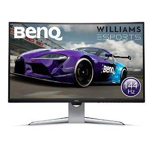 BenQ32寸 144 Hz 曲面游戏显示器 2K显示器
