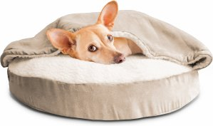 $25.99FurHaven Faux Sheepskin Snuggery Orthopedic Dog & Cat Bed