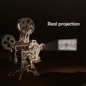 史低價:ROKR 3D 木質拼搭手搖放映機