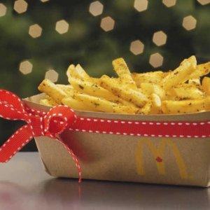 12月10日截止,仅限安省McDonald's 麦当劳 任意订单送新品Herb&Garlic Fries