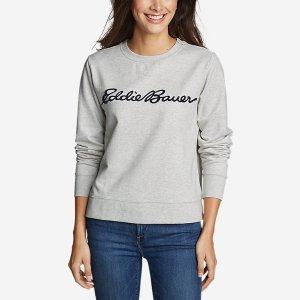 Eddie BauerCamp Fleece Logo Crewneck Sweatshirt - Easy