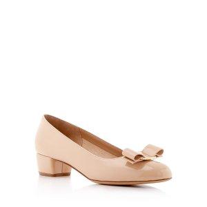 Vara 蝴蝶结中跟鞋