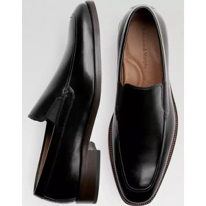 Johnston & MurphySanborn Black Slip On - Men's Shoes | Men's Wearhouse