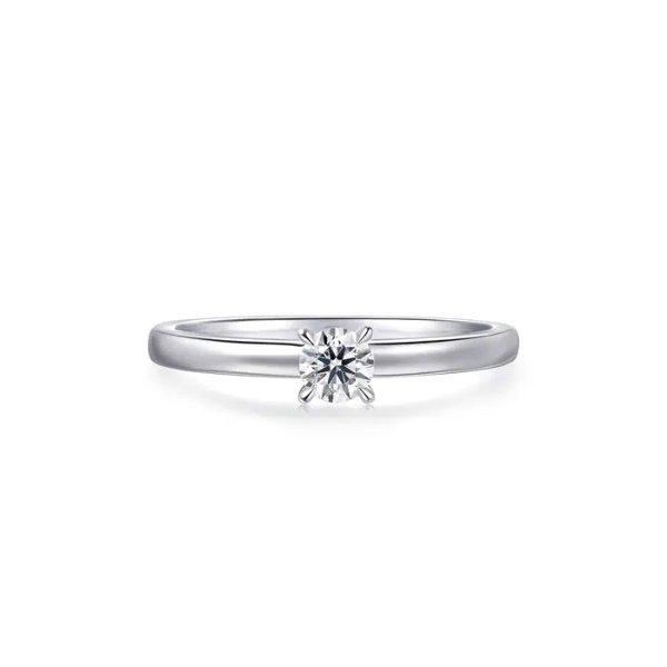 18K白金钻石戒指