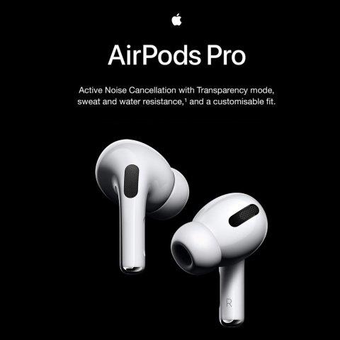 Apple AirPods Pro (2019)无线降噪耳机 音质提升 佩戴舒适