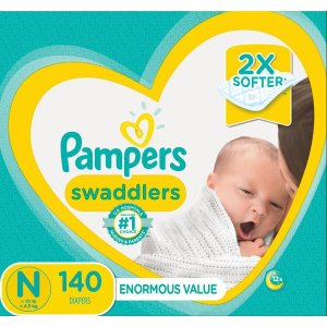 Pampers Swaddlers Diapers Size N 140 Count - Walmart.com