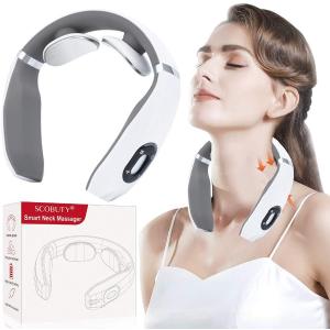 仅售€38.99SCOBUTY 颈部按摩器 加热脉冲模式 缓解颈部肌肉紧张