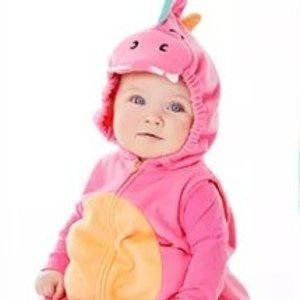 3.75折起+满$25送$10券折扣升级:Carter's 儿童超萌万圣节装扮服饰热卖