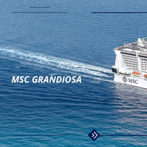 As low as $159MSC Cruises New Flagship MSC  Grandiosa First Voyage