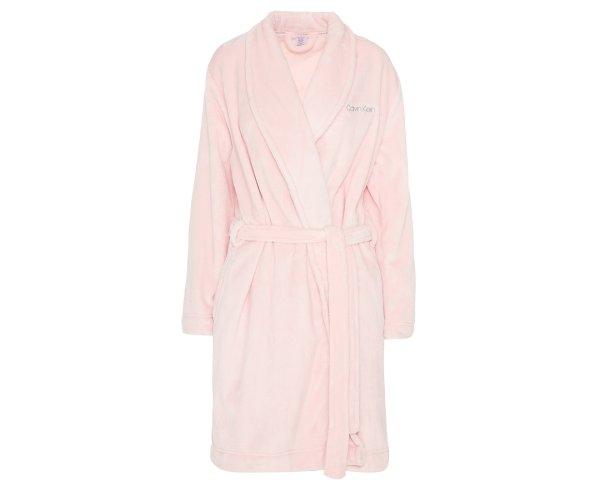 Women's Fluffy Robe - Sheer Blush