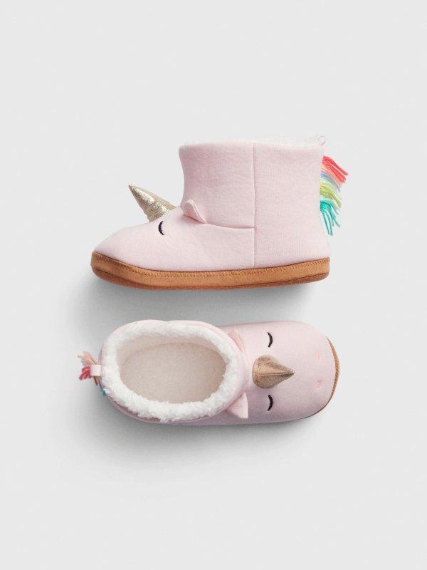 儿童独角兽造型家居鞋