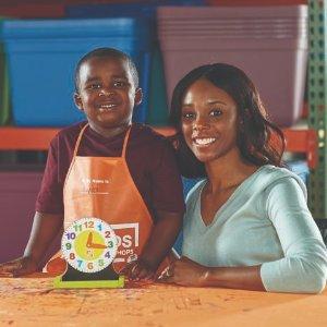制作 小时钟预告:3月 Home Depot 免费的儿童手工活动