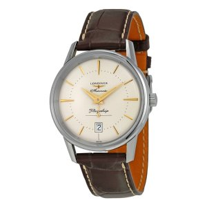 LonginesHydroConquest Automatic Blue Dial Men's Watch L37424966 Heritage Flagship Automatic Silver Dial Brown Leather Men's Watch L47954782 Heritage Flagship Automatic Silver Dial Brown Leather Men's Watch L47954782