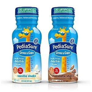$22.78+包邮史低价:PediaSure Grow & Gain 香草、巧克力口味液体营养饮品8盎司/瓶,24瓶