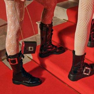 无门槛6折起 漆皮穆勒鞋€354RogerVivier 年中大促 经典方扣鞋、包包收不停