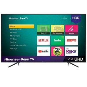 $229.99Hisense 55吋 HDR 4K UHD Roku系统 智能电视 R6070E3