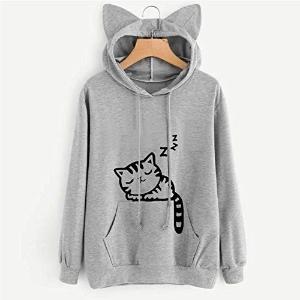 $8.27起(原价$25) 四色可选GloGlow 可爱猫咪女士卫衣 萌萌的猫耳太可爱了吧