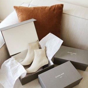 低至3折 经典芭蕾舞鞋$68牛年好礼:Everlane 鞋履专场 $83(原价$166)收针织及踝靴