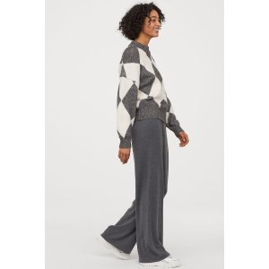 H&M晒货同款格纹毛衣
