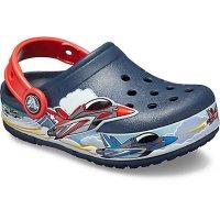 Crocs 儿童飞机闪灯洞洞鞋