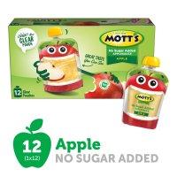 Mott's 无糖苹果果泥3.2Oz 12袋