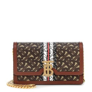 BurberryCarrie TB leather shoulder bag