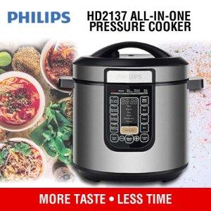 5折 €79.95(原价€159.99)限今天:Philips 飞利浦智能电压力锅 中国厨房的必备神器